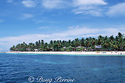 The local tourist industry is centered at Bounty Beach on the south side of Malapascua Island, central Philippines, Vizcayan Sea, Western Pacific Ocean
