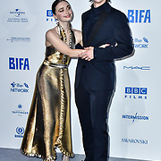 Jessica Barden, Earl Cave attends the 22nd British Independent Film Awards at Old Billingsgate on December 01, 2019 in London, England.