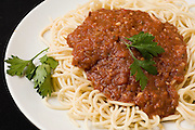 A plate of Spaghetti Bolognese