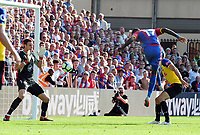 Football - 2018 / 2019 Premier League - Crystal Palace vs. Southampton<br /> <br /> Christian Benteke of Palace has a close range header saved by Southampton goalkeeper, Alex Mccarthy, at Selhurst Park.<br /> <br /> COLORSPORT/ANDREW COWIE