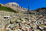 Stone steps on the Lake Oesa Trail, Yoho National Park, British Columbia, Canada