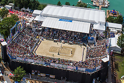 02.08.2014, Strandbad, Klagenfurt, AUT, A1 Beachvolleyball Grand Slam 2014, im Bild  Centercourt Final 2012 // during the A1 Beachvolleyball Grand Slam at the Strandbad Klagenfurt, Austria on 2014/08/02. EXPA Pictures © 2014, EXPA Pictures © 2014, PhotoCredit: EXPA/ Mag. Gert Steinthaler
