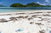 Beach with Flip-flop in the Seychellys