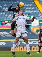 Leeds United's Kalvin Phillips battles with Burnley's Josh Brownhill<br /> <br /> Photographer Alex Dodd/CameraSport<br /> <br /> The Premier League - Leeds United v Burnley - Sunday 27th December 2020 - Elland Road - Leeds<br /> <br /> World Copyright © 2020 CameraSport. All rights reserved. 43 Linden Ave. Countesthorpe. Leicester. England. LE8 5PG - Tel: +44 (0) 116 277 4147 - admin@camerasport.com - www.camerasport.com