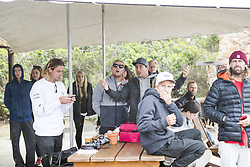 July 20, 2017 - Mick Fanning and Joel Parkinson came down to cheer on the boys during the final of the Corona Open J-Bay...Corona Open J-Bay, Eastern Cape, South Africa - 20 Jul 2017. (Credit Image: © Rex Shutterstock via ZUMA Press)