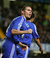 Photo: Tom Dulat/Sportsbeat Images.<br /> <br /> Chelsea v Sunderland. The FA Barclays Premiership. 08/12/2007.<br /> <br /> Chelsea's Frank Lampard celebrates scoring second goal. Chelsea leads 2-0.