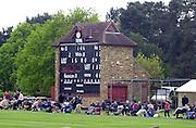 Shenley, Middlsex. ENGLAND, Sri Lanka Tour match.<br /> Cricket<br /> Middlesex CCC vs Sri Lankas - Shenley<br /> Shenfield Cricket Centre GV's<br /> Score Board                             [Mandatory Credit:Peter SPURRIER/Intersport Images]