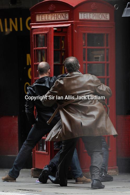 Jason Statham Redemption Film set Soho http://www.youtube.com/watch?v=82XwtyTU_1k