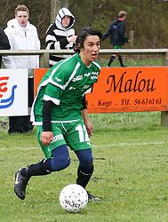 FODBOLD: Oliver Goreng (Helsingør) under kampen i Kvalifikationsrækken, pulje 1, mellem Rishøj Boldklub og Elite 3000 Helsingør den 9. april 2007 på Rishøj Stadion. Foto: Claus Birch