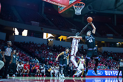 NORMAL, IL - October 23: Abdou Ndiaye disrupts the ball control of Cade McKnight under the watchful eye of Chris Fuller during a college basketball game between the ISU Redbirds and the Truman State Bulldogs on October 23 2019 at Redbird Arena in Normal, IL. (Photo by Alan Look)