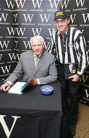 Photo: Andrew Unwin, Digitalsport<br /> Sir Bobby Robson book signing.<br /> 04/08/2005.<br /> Sir Bobby Robson (L) signs his autobiography