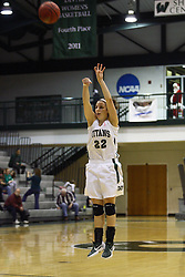 17 December 2011:  Michelle Bilek during an NCAA womens division 3 basketball game between the St. Francis Fighting Saints and the Illinois Wesleyan Titans in Shirk Center, Bloomington IL