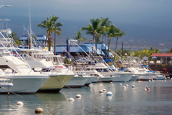 Sport Fishing Charter Boats in Honokohau Harbor, Kona, Big Island, Hawaii, Pacific Ocean