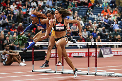 2020 USATF Indoor Championship<br /> Albuquerque, NM 2020-02-15<br /> photo credit: © 2020 Kevin Morris<br /> womens 60m hurdles final