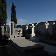 Villanueva de Campeán cemetery, Zamora province, Spain . The WAY OF SAINT JAMES or CAMINO DE SANTIAGO following the Silver Way, between Seville and Astorga, SPAIN. Tradition says that the body and head of St. James, after his execution circa. 44 AD, was taken by boat from Jerusalem to Santiago de Compostela. The Cathedral built to keep the remains has long been regarded as important as Rome and Jerusalem in terms of Christian religious significance, a site worthy to be a pilgrimage destination for over a thousand years. In addition to people undertaking a religious pilgrimage, there are many travellers and hikers who nowadays walk the route for non-religious reasons: travel, sport, or simply the challenge of weeks of walking in a foreign land. In Spain there are many different paths to reach Santiago. The three main ones are the French, the Silver and the Coastal or Northern Way. The pilgrimage was named one of UNESCO's World Heritage Sites in 1993. When there is a Holy Compostellan Year (whenever July 25 falls on a Sunday; the next will be 2010) the Galician government's Xacobeo tourism campaign is unleashed once more. Last Compostellan year was 2004 and the number of pilgrims increased to almost 200.000 people.
