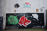Collection of street art on a hidden corner on 21st January 2020 in London, England, United Kingdom. Street art is an ever changing visual enigma, as the artworks constantly change, as councils clean some walls or new works go up in place of others. While some consider this vandalism or graffiti, these artworks are very popular among local people and visitors alike, as a sense of poignancy remains in the work, many of which have subtle messages.