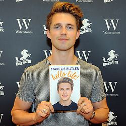© Licensed to London News Pictures. 08/08/2015 <br /> Blogger MARCUS BUTLER at Waterstones bookshop in Bluewater,Kent today meeting fans and signing copies of his book.<br /> (Byline:Grant Falvey/LNP)