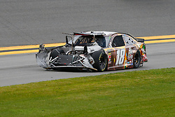 February 10, 2019 - Daytona, FL, U.S. - DAYTONA, FL - FEBRUARY 10: Kyle Busch, driver of the #18 M&MÃ•s Chocolate Bar Toyota, following a crash during the Advance Auto Parts Clash on February 10, 2019 at Daytona International Speedway in Daytona Beach, FL. (Photo by David Rosenblum/Icon Sportswire) (Credit Image: © David Rosenblum/Icon SMI via ZUMA Press)