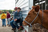 Field Trip to Ramblin' Vewe Farm in Gilford.   (Karen Bobotas Photographer)