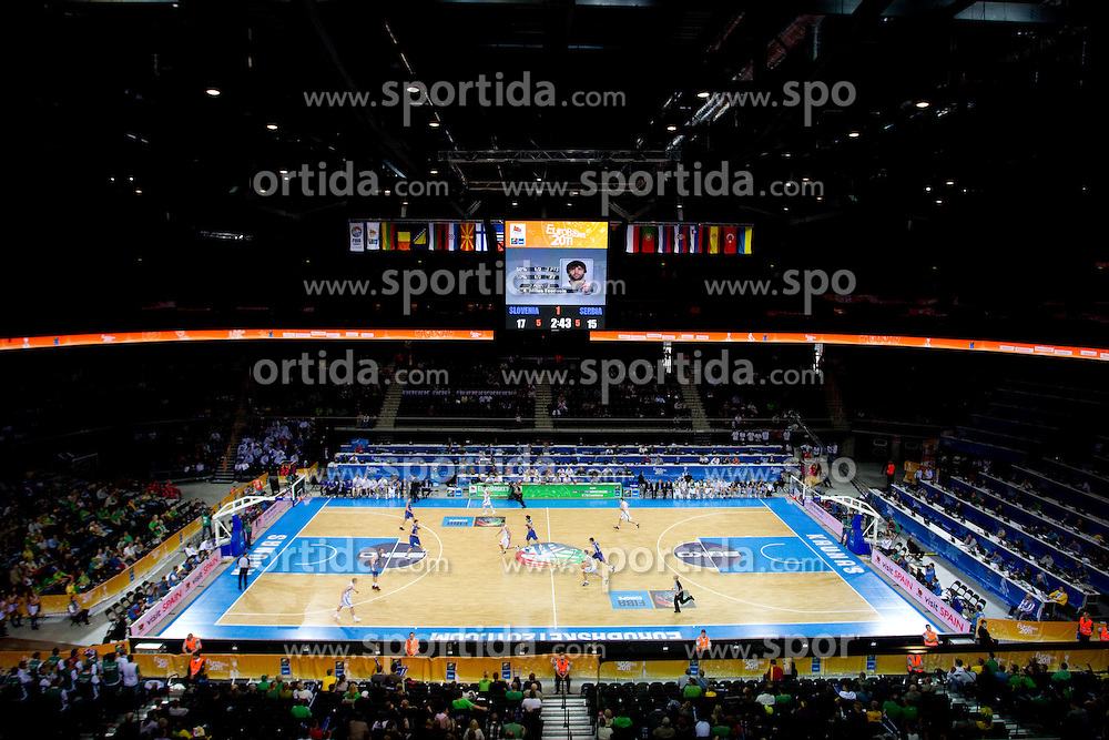Arena Zalgirio during basketball game between National basketball teams of Slovenia and Serbia in 7th place game of FIBA Europe Eurobasket Lithuania 2011, on September 17, 2011, in Arena Zalgirio, Kaunas, Lithuania. (Photo by Vid Ponikvar / Sportida)