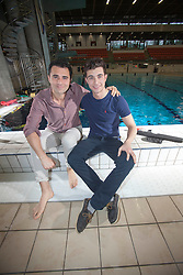 Scottish music star Darius Campbell and brother Cyrus,  take part in under water photo shoot at the Edinburgh Royal Commonwealth Pool to commemorate World Water Day 2013..©Michael Schofield..