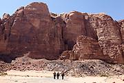 Hikers in Wadi Rum, Jordan