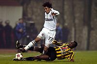 Fotball<br /> Efes cup 4 i Tyrkia<br /> Besiktas v Vitesse Arnheim<br /> 9. januar 2005<br /> Foto: Digitalsport<br /> NORWAY ONLY<br /> Ahmed Hassan in duel met Yakubu