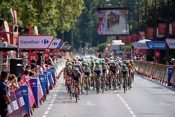 Final lap and the escapees are still clear at Madrid Challenge by La Vuelta an 87km road race in Madrid, Spain on 11th September 2016.