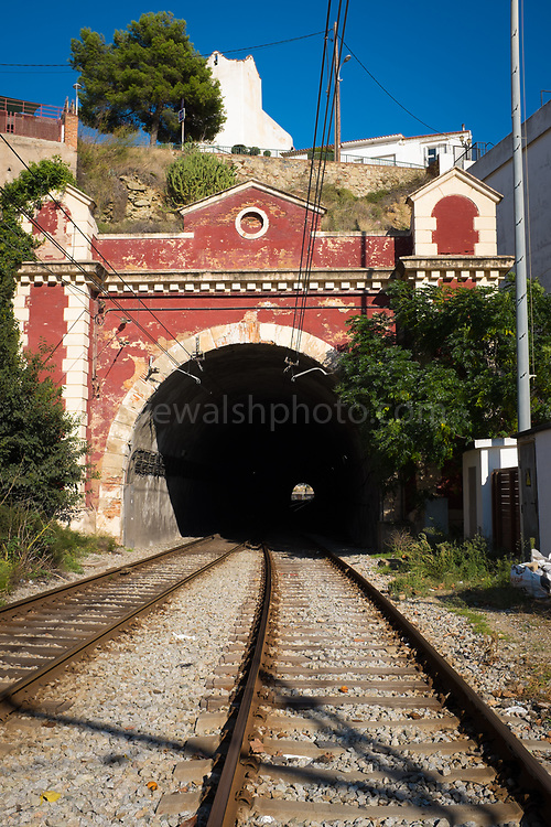Railway tunnel, in Sant Pol de Mar, Catalonia