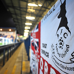 TELFORD COPYRIGHT MIKE SHERIDAN A general view of flags at the New Bucks head during the Vanarama Conference North fixture between AFC Telford United and Blyth Spartans at The New Bucks Head on Tuesday, January 28, 2020.<br /> <br /> Picture credit: Mike Sheridan/Ultrapress<br /> <br /> MS201920-043