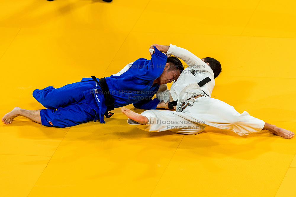 16-11-2018 NED: Grand Prix The Hague 2018, Den Haag<br /> Repechage -60 kg KITADAI, F. BRA (white) vs. GANBAT, B. MGL (blue)