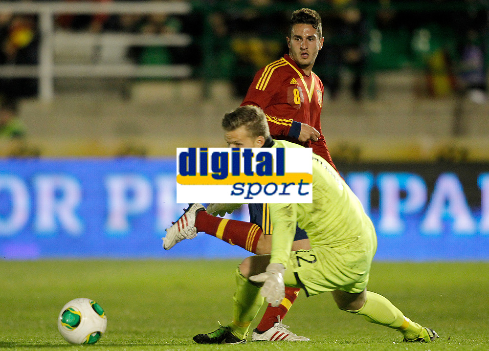 Spain's Koke and Norway's Nyland (d) during international sub21 match.March 21,2013. (ALTERPHOTOS/Acero)