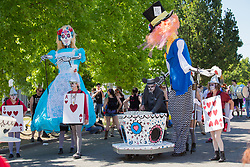 United States, Washington, Seattle, Summer Solstice Festival, held annually in June in Fremont neighborhood