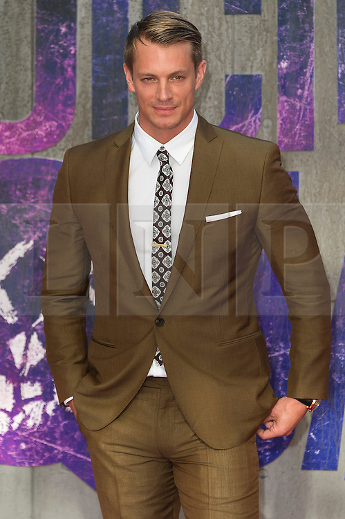 © Licensed to London News Pictures. 03/08/2016. JOEL KINNAMAN attends the Suicide Squad UK Film Premiere  London, UK. Photo credit: Ray Tang/LNP