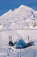 Mt. Baker Wilderness Area, Winter Camping, North Cascades. WA