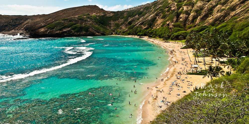 Panorama of Hanauma Bay, Oahu, Hawaii