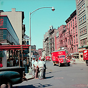 CH0038. West 8th St. looking from Macdougal St. New York City. Ca. 1955