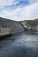 Grand Coulee Dam Panorama. Composite 2 of 7 images taken with a Nikon D700 camera and 35 mm f/1.4 mm lens (ISO 200, 18 mm, f/11, 1/1000 sec). Raw images processed with Capture One Pro and the panorama created using AutoPano Pro.