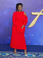 Clara Amfo attends the Aladdin European Gala Arrivals at Lux Odeon in Leicester Square in London, 9 May 2019.<br /><br />9 May 2019.<br /><br />Please byline: Vantagenews.com