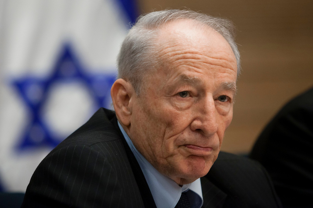 Attorney General of Israel, Yehuda Weinstein attends a session of the Constitution, Law and Justice Committee at the Knesset, Israel's Parliament in Jerusalem, on April 23, 2012.