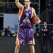 Power Electronics Valencia's Nando De COLO during their Euroleague Basketball Top 16 Game 2 match Fenerbahce Ulker between Power Electronics Valencia at Sinan Erdem Arena in Istanbul, Turkey, Thursday, January 27, 2011. Photo by TURKPIX