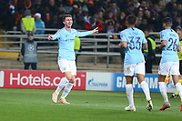 KHARKOV, UKRAINE - OCTOBER 23: Manchester City's French defender Aymeric Laporte celebrates after scoring a goal  during the Group F match of the UEFA Champions League between FC Shakhtar Donetsk and Manchester City at Metalist Stadium on October 23, 2018 in Kharkov, Ukraine. (Photo by MB Media/Getty Images)
