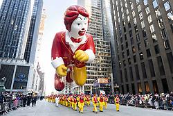 November 22, 2018 - New York, New York, U.S. - Ronald McDonald balloon at The 2018 Macy's Thanksgiving Day Parade in New York City, New York. (Credit Image: © Michael Brochstein/ZUMA Wire)