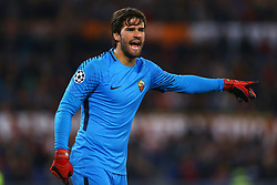 October 31, 2017 - Rome, Italy - Alisson Becker of Roma  during the UEFA Champions League football match AS Roma vs Chelsea on October 31, 2017 at the Olympic Stadium in Rome. (Credit Image: © Matteo Ciambelli/NurPhoto via ZUMA Press)