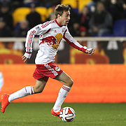 Eric Alexander, New York Red Bulls, in action during the New York Red Bulls V Houston Dynamo, Major League Soccer regular season match at Red Bull Arena, Harrison, New Jersey. USA. 23rd April 2014. Photo Tim Clayton