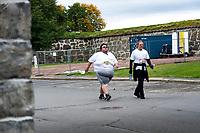 22. September 2012, Oslo Marathon <br /> Leder av Landsforeningen for Overvektige, Jørgen Foss løper 3km under Oslo Marathon<br /> Foto: Sjur Stølen , Digitalsport