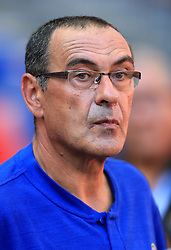 Chelsea manager Maurizio Sarri during the Community Shield match at Wembley Stadium, London