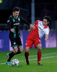 26-10-2012 VOETBAL: FC UTRECHT - FC GRONINGEN: UTRECHT<br /> Utrecht wint met 1-0 van Groningen / (L-R) Andraz Kirm SLO, Mark van der Maarel<br /> ©2012-FotoHoogendoorn.nl