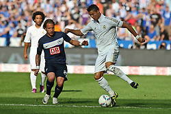 27.07.2011, Olympiastadion Berlin, GER, 1.FBL, Testspiel, Hertha BSC Berlin vs Real Madrid im Bild  Dristiano Ronaldo (Real Madrid #7) und Patrick Ebert (Hertha BSC Berlin #20)  EXPA Pictures © 2011, PhotoCredit: EXPA/ nph/  Hammes       ****** out of GER / CRO  / BEL ******