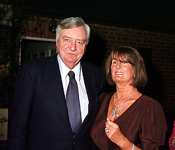 MR MARK BIRLEY and his former wife LADY ANNABEL <br /> GOLDSMITH, at a dinner in London on 22nd May 2000.OEK 32